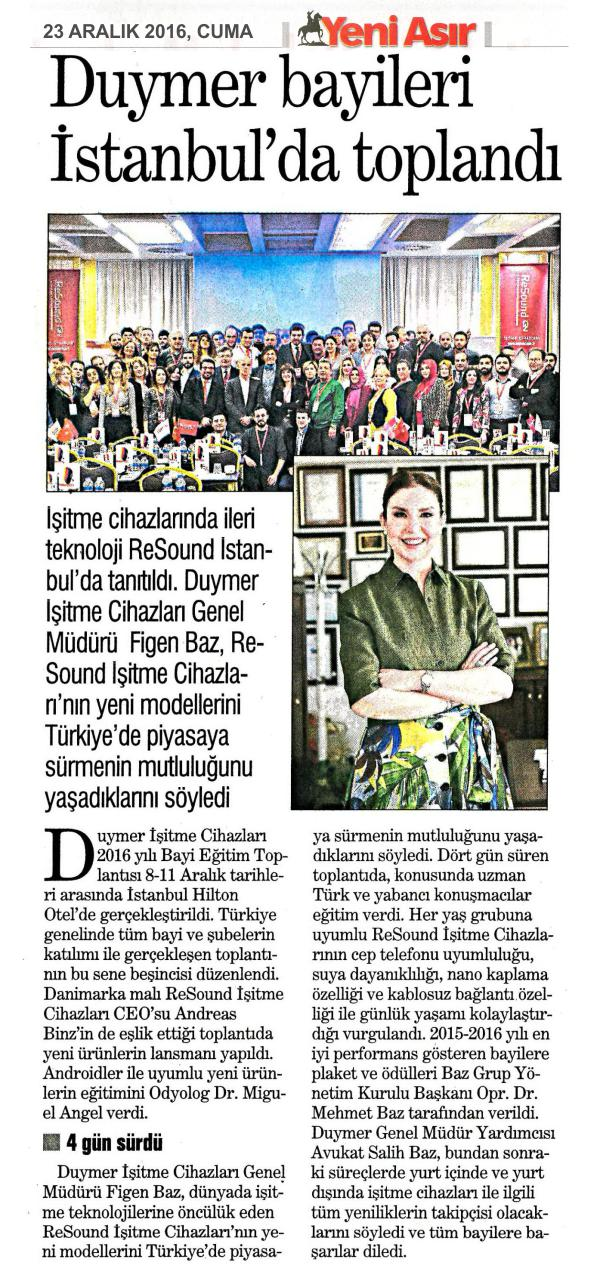 Duymer Bayileri İstanbulda toplandı